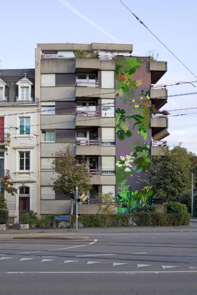 Wandbild für Gundeldingen, Wettbewerb | 2017-18
