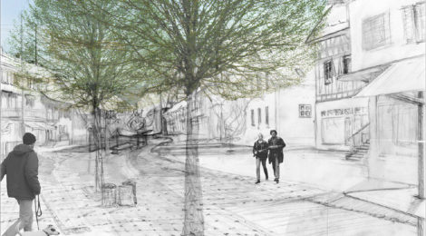 Märktgasse, die Dorfkernstrasse Rafz | 2003